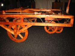 Самоходная машина (вид 3), по чертежам Леонардо да Винчи